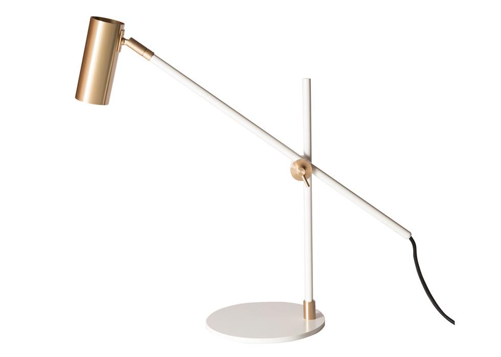 Lektor Desk   White/Brass